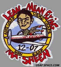 USAF PILOT TRAINING CLASS 2012-07 LEAN MEAN FLING MA-SHEEN ORIGINAL PATCH
