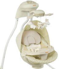 Automatische Babyschaukel BANINNI beige/mint, Elektrische Baby-Wiege, Wippe, Neu
