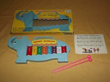 VINTAGE TOY MELODY ELEPHANT MUSIC TOY XYLOPHONE