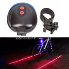 2 Laser Lights +5 Red LED Flashing Lamp Rear Light Bicycle Bike Tail Safety Blue