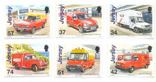 Jersey-postal vehicles-vans-cars MNH Set
