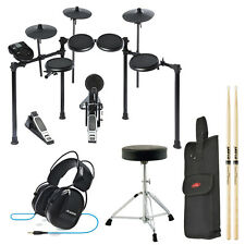 Alesis Nitro Kit 8-Piece Electronic Drum Set w/ Throne Headphones Sticks & Bag