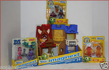LOT 4 - Imaginext Monsters UNIVERSITY ROW Play Set + 3 Sets (9) Action Figures