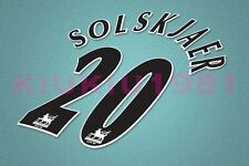 Manchester United Solkjaer #20 PREMIER LEAGUE 97-06 Black Name/Number Set