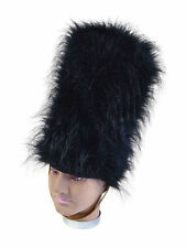 GRENADIER FAKE FUR HAT SOLDIER #BEARSKIN ADULT FANCY DRESS PARTY HEAD ACCESSORY