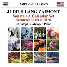"""Judith Lang Zaimont: Sonata; A Calendar Set; Nocturne """"La fin de siŠcle"""" (CD,..."""