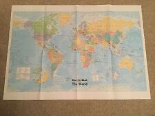 MAIL ON SUNDAY GLOSSY WORLD MAP & FLAGS OF WORLD POSTER NEW FOR SCHOOL/ OFFICE