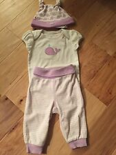 NWT Gymboree Baby Girl Lavender Whale Layette Outfit Set Hat NEWBORN Size