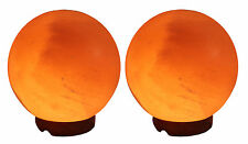 Pack of 2 Indus classic Himalayan Salt Globe Night Light Lamp Geomatric Shape