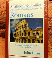 JOHN BROWN - ROMANS AN ANALYTICAL STUDY HARDBACK - RECOMMENDED BY C.H.SPURGEON