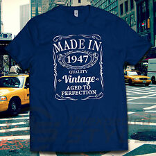 VINTAGE 1947 AGED TO PERFECTION T-shirt 70th BIRTHDAY Gift MADE IN 70 years old