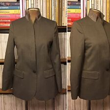 STELLA MCCARTNEY smart laine veste blazer it 40/uk 8/us 4 kaki marron gris