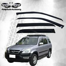 Fit 2002-2006 Honda Crv Cr-V 4 Door 4Dr Slim Style Sun Window Visor 4Pcs New