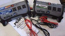 Lot of 2 Peak PKC0BO 400-Watt Tailgate Power Inverter with battery clamps