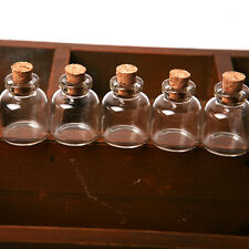 5PCS Empty Clear Tiny Mini Clear Message Glass Bottles Vials With Cork 22 x 28mm
