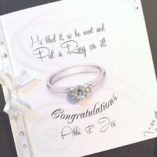Hand-Made Personalised 'Ring on it'  Engagement Card