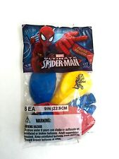 "9"" Spiderman Latex Balloons, Birthday Party Supplies, Multi-Colored, 6 Count"