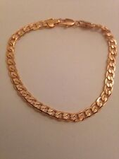 "5mm Rose Gold Plated Bracelet Chain 8"" Long High Quality UK SELLER L355"