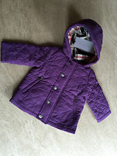 Burberry Children's Purple Quilted Puffer Size 6M AUTHENTIC RRP £125 Baby