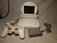 Sony PlayStation 1 PS1 Slim Mini White Console  System LCD Screen Model Scph-101