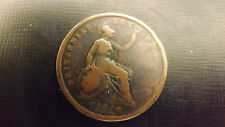 UK PENNY 1827 BETTER GRADE VERY RARE COIN NOT OFTEN SEEN THIS GOOD