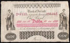 1899 BANK OF IRELAND £1 BANKNOTE * E/11 8122 * gF *