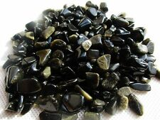 TUMBLED 7-12MM  Golden Obsidian QUARTZ CRYSTAL 1/2 BULK STONES/BUY3 SHARES 1FREE