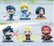 "Fate/Zero Saber pvc figures 1.2"" figure doll toy dolls set of 6pcs new"