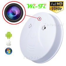 Spy Nanny Cam HD 1080p WiFi CCTV IP Camera Hidden Smoke Detector Mini DV DVR Cam