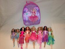 * Barbie 12 Dancing Princesses, 8 dolls, storage case, gently used *