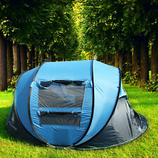 3-4 Person Seconds Pop Up Quick Opening Camping Hiking Large Instant Tent SALE!