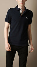 Burberry Brit Men Casual Short Sleeve Nova Mens Polo Shirt Dark Navy L Large