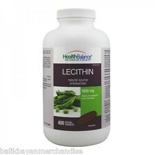 Health Balance Lecithin 1200mg 400 capsule Support Liver Function Supplement
