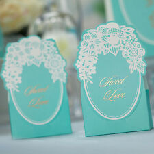 10 pcs Tiffany Blue Wedding Favour Candy Boxes Lace Flower Gift Box BX011 New