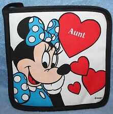 "DISNEY MINNIE MOUSE ""AUNT"" Hot Pads Pot Holders"