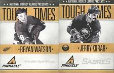 (lot of x2 )----2010-11 Pinnacle Tough Times #BW Bryan Watson +#JK Jerry Korab
