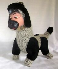 VINTAGE RUBBER FACE POODLE SOFT PUPPY DOG PLAY TOY