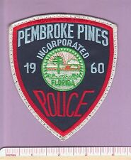 Pembroke Pines FL State Fla Police Patch - Green Florida Seal - Broward County