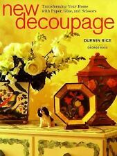 New Decoupage: Transforming Your Home with Paper, Glue, and Scissors-ExLibrary