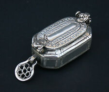 ANTIQUE SILVER BOX SOUTH EAST ASIAN CAMBODIAN INDONESIAN BETEL