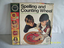 Spelling And Counting Wheel Learning Game Letters Numbers 1976 Complete Nice