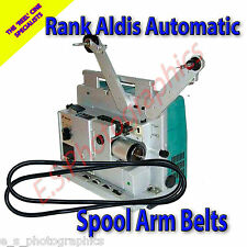 RANK ALDIS AUTOMATIC 16mm Cine Projector Belts x2 (For Both Spool Arms)