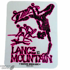 "BONES BRIGADE / POWELL ""Future Primitive"" Lance Mountain Skateboard Sticker RED"