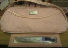 100% Genuine CDior PINK Makeup Bag Purse /Clutch with Matching Mirror Limited Ed