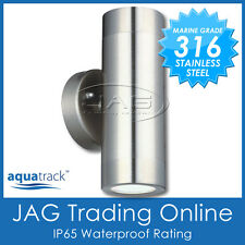 H/D 316 STAINLESS STEEL GU10 UP/DOWN OUTDOOR EXTERIOR WALL LIGHT-WATERPROOF IP65