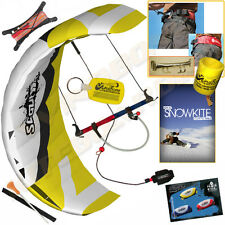 HQ Scout III 3M Power Foil Kite SnowKite Package Snow + Harness + SnowKiting DVD