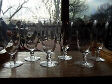 (6) Water Ice Tea Goblets glasses, antique Glass Crystal Heisey Waverly #5019