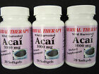 ACAI BERRY Extract 1000mg.Dietary Supplement Powerful Antioxidant Lot of 3