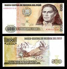 BANKNOTE WORLD  PERU IN S.AMERICA, 1 PCE OF 500 INTIS 1987, P-134, FROM BUNDLE