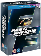 FAST AND FURIOUS - 1-7 Complete Collection Boxset (NEW BLU-RAY)